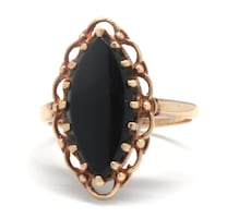 Ladies Gold/Onyx Ring
