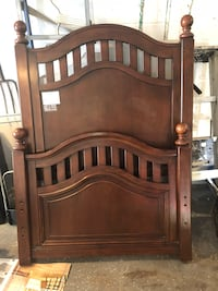 brown wooden headboard and footboard Franklin Lakes, 07417