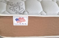deluxe plush double sided eastern king set mattress and boxspring Palm Springs