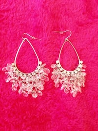 New Chandelier Silvertone with crystals earrings  Toronto, M2N 1H7