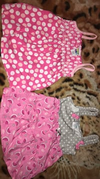 baby's two pink and white onesies Mission, 78572