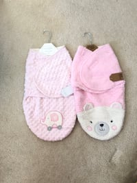 Baby plush swaddle blankets - 2 Chantilly, 20152