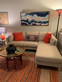 World Market Sofa w/ottoman and chair