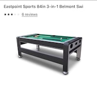 East point 7ft 3-1 swivel pool table/air hockey/ping pong  Baltimore, 21219