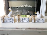 Hello Spring Stamped Book Stacks