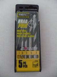 Mibro 977051 5-Piece 1/8-Inch to 3/8-Inch Brad Point Bit Set Burnaby