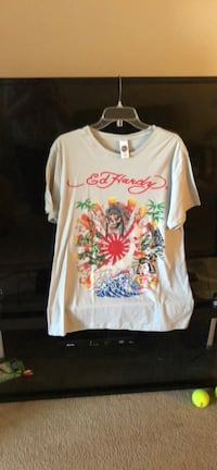 Ed Hardy Lt Gray T-Shirt-Platinum Series-2XL- New With Tags Jackson, 08527