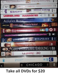 DVDs - Various Titles Lot 2 (Take all 15 DVDs for $20) Mississauga