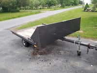 black and brown utility trailer Turbotville