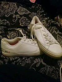 pair of white low top sneakers Fayetteville, 28314