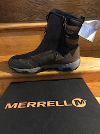 unpaired gray and brown Merrell hiking boot with box Takoma Park, 20912