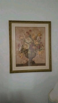two brown wooden framed painting of flowers Miramar, 33027