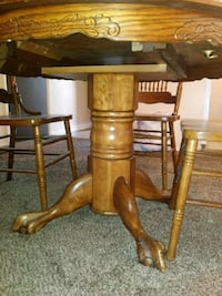 brown wooden table with chairs Sandy, 84094