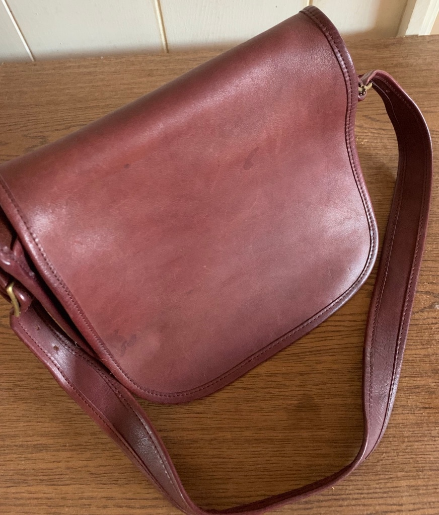 Photo Genuine Vintage Coach Leather Saddlebag
