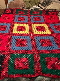 red, green, and yellow knitted textile Houma, 70360