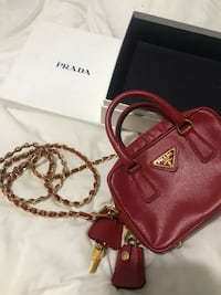 "Prada Leather Mini Cross Body Bag 5.5""L x 4""W x 2""H Toronto, M6C 4A9"
