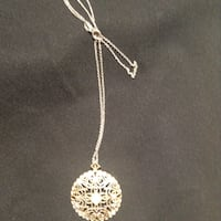 New 18 inch Sterling Silver necklace with sterling silver etched medallion Hudson, 28638