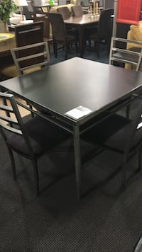 Black square table with 4 chairs Rockville, 20852