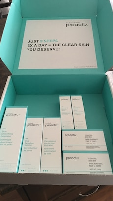Proactiv Just 3 steps 2x a day the clear skin you deserve boxes