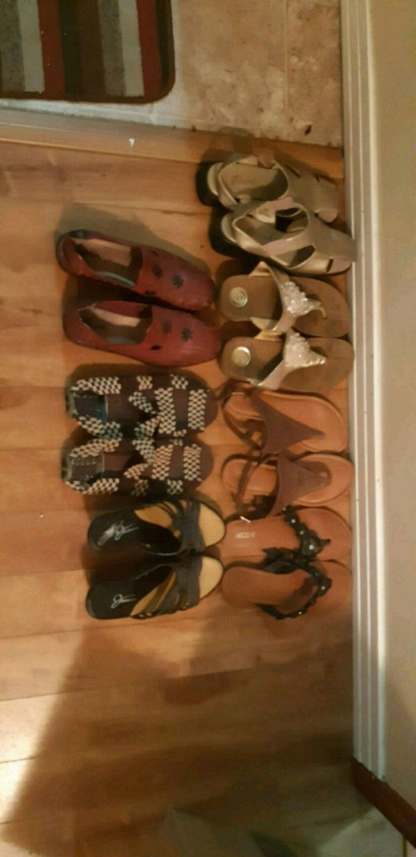 women's assorted pairs of shoes