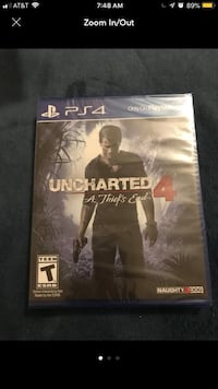 Uncharted 4 ps4 game case Hyattsville, 20783