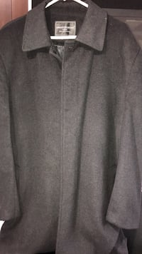 Gray zip-up wool jacket Vancouver, V5W
