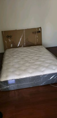 Queen mattress and bed frame Lancaster