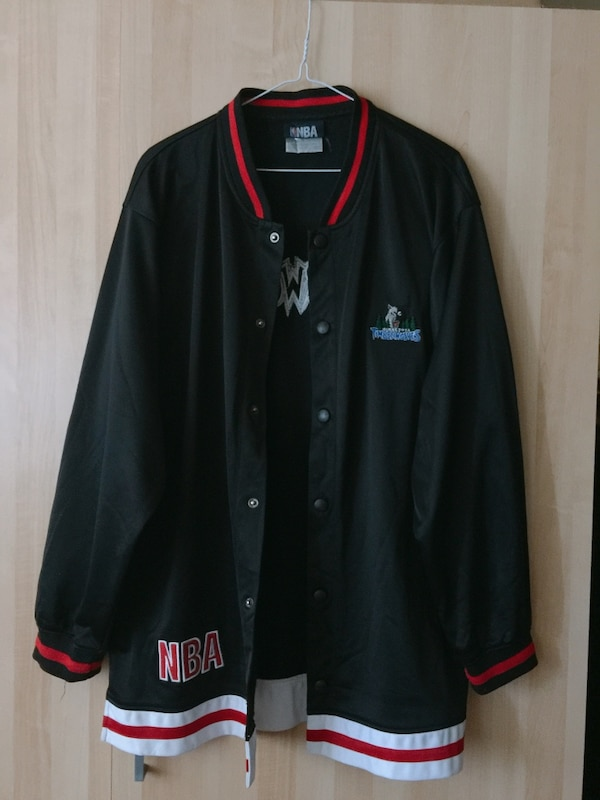 9549b0578a76 Used black Minnesota Timberwolves letterman jacket for sale in Markham -  letgo