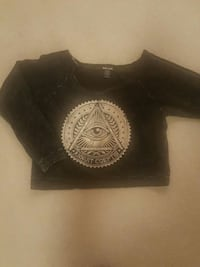 annuit coeptis all seeing eye print sweater