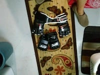 black and red snowboard with bindings Barrie, L4N