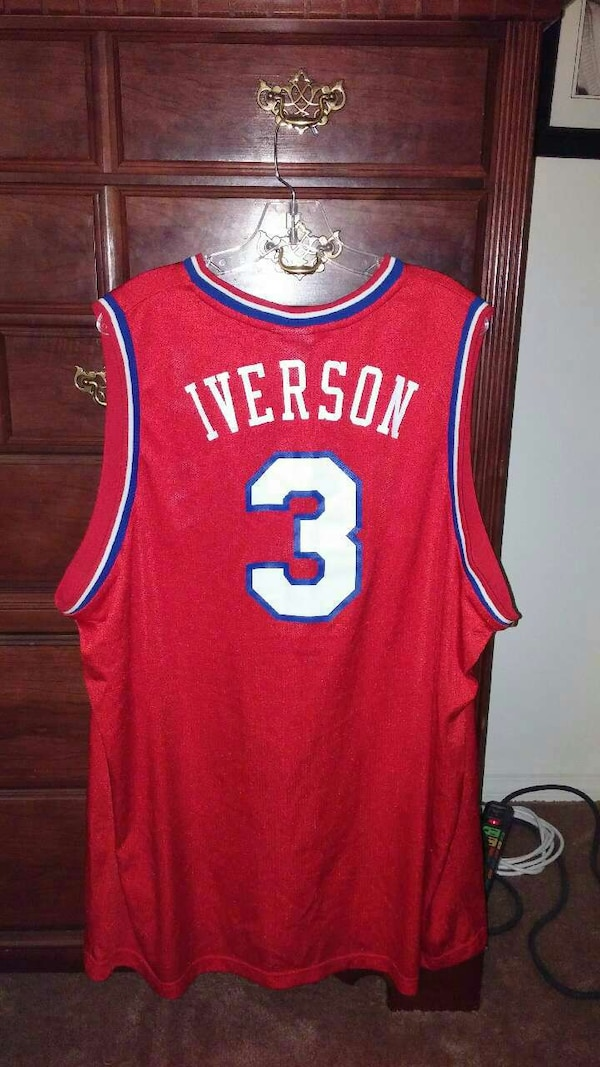 1bbdc2222de0 Used Philadelphia 76ers red Allen Iverson jersey shirt for sale in  Melbourne - letgo