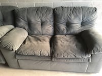 black microsuede loveseat
