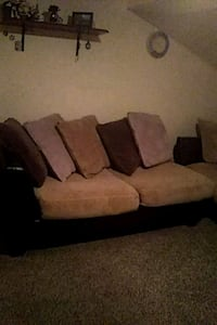 brown and black fabric loveseat Parma, 44129
