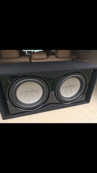 black and gray subwoofer speaker Columbia Station, 44028