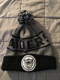 black and gray Oakland Raiders bobble hat Silver Spring, 20901
