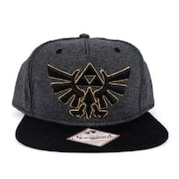 black and yellow Snapback Legend of Zelda fitted cap