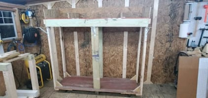 Mobile wood rack with wheels 75×73×36