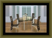 Glass dining table with 4 chairs Adelphi, 20783