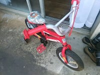 toddler's red and white trike null