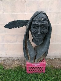 """32"""" tall Native Indian Chainsaw carving East Berlin, 17316"""