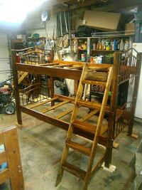 Freshly refinished bunkbeds one mattress included Kennewick, 99337
