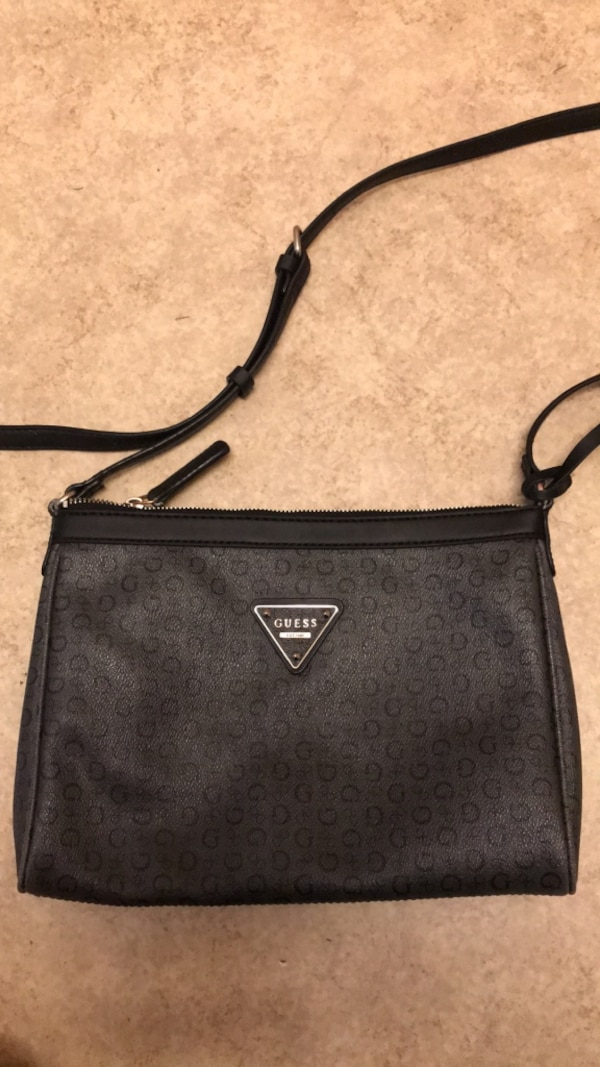 1d6db71c23 Used Small black grey Guess brand crossbody purse. Used condition ...
