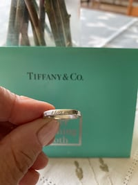 "Tiffany ""I Love You"" sterling silver band ring Size 7 Ellicott City, 21042"