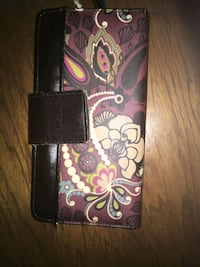 black and pink floral leather wallet Greeneville