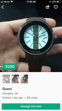 Gucci watch 39 km