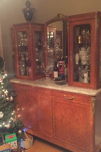 French cabinet mirror/marble
