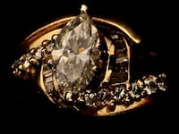 SAVE$ 1 CT Diamond Marquise Centerstone, 1.90 CT total-14k -also with wedding band- Finance or trade Stafford, 22556