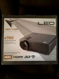 black Vector LED projector box Toronto, M3N 2Z1