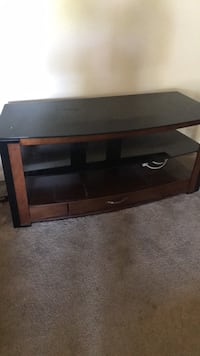 black wooden TV stand with cabinet San Jose, 95118