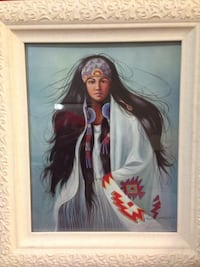 beautiful native american woman printing with frame new never been use  Birmingham, 35226